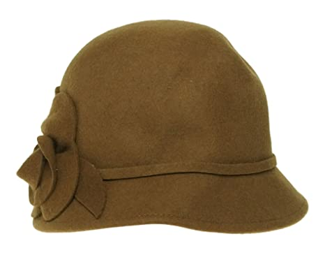 b7923dceabd40b Image Unavailable. Image not available for. Color: Nine West Felt Cloche  with 3d Flower ...