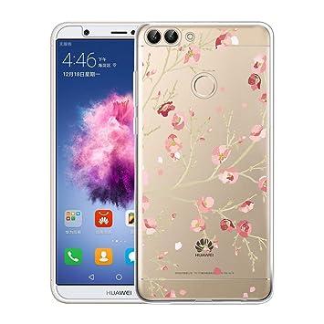 Huawei P Smart Funda, ivencase Carcasa Flexible Ultra Slim Transparente Crystal Clear Soft TPU Silicone Back Bumper de Alta Resistencia Skin Case ...