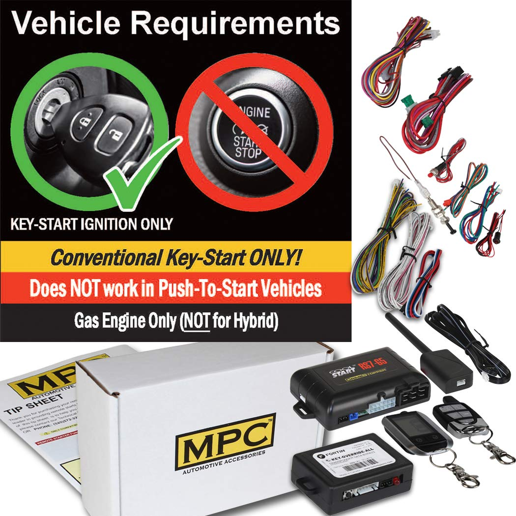 Complete 2 Way LCDリモート開始withキーレスエントリ2007フォードF - 250トラック用キット – Includesバイパス   B076J23XM2
