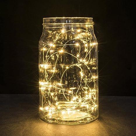 Guirlandes lumineuse étanche cuivre fil 1m 10 leds chaine de lampes décoration maison
