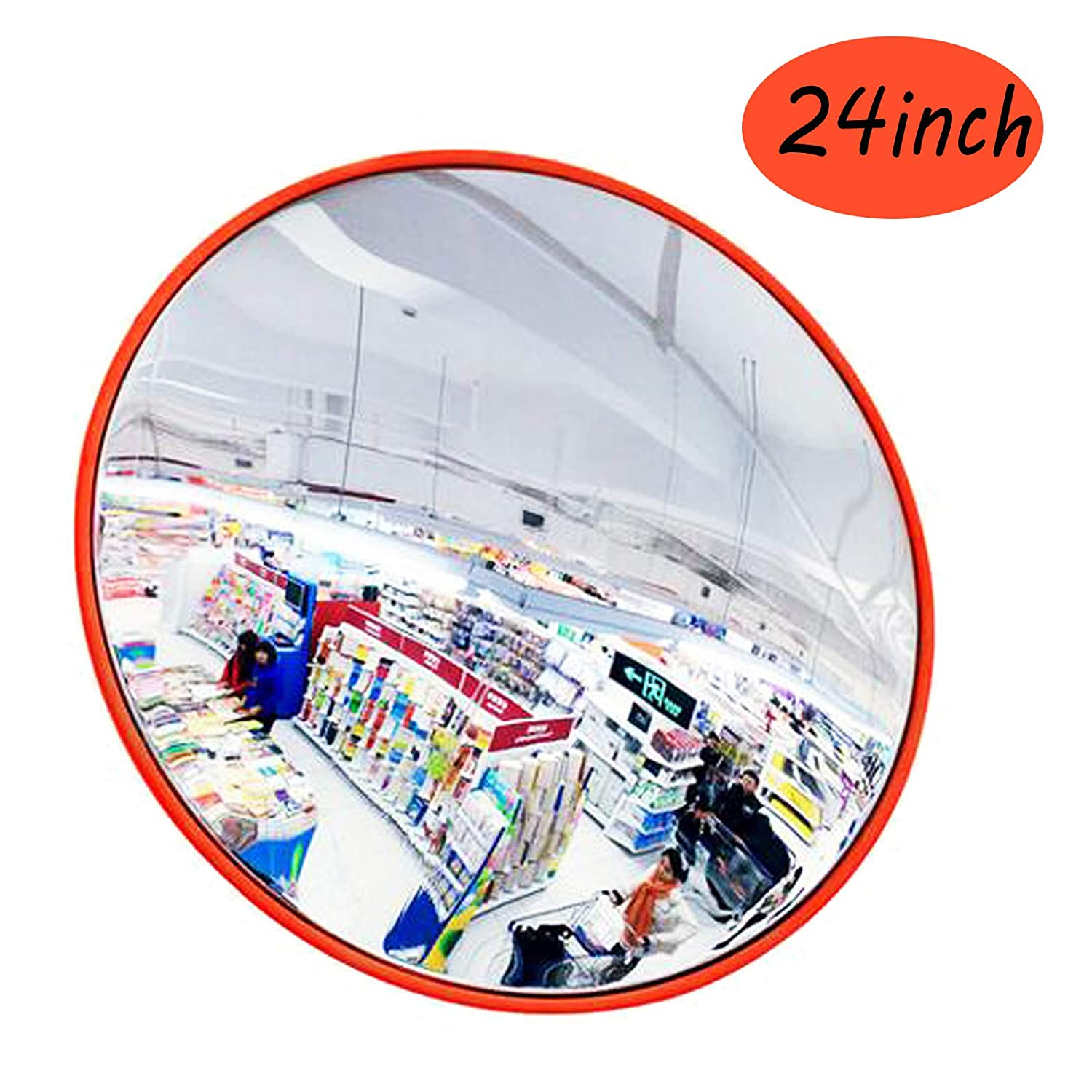 """60cm//24/"""" Wide Angle Convex Mirror Wall Mount Corner Blind Spot Security /& Safety"""