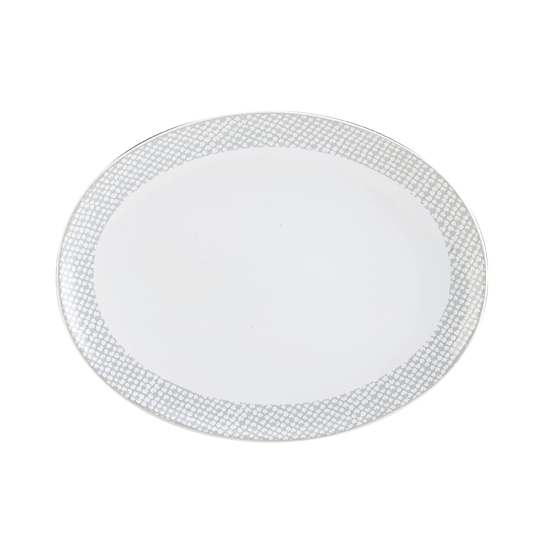 Mikasa Avery Dots Oval Serving Platter