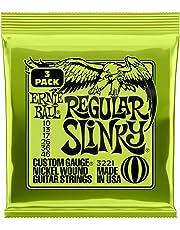 Ernie Ball P03221 Ernie Ball Regular Slinky Nickel Wound Electric Guitar Strings 3 Pieces Pack, 10-46 Gauge, Regular