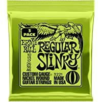 Ernie Ball P03221 Ernie Ball Regular Slinky Nickel Wound Electric Guitar Strings 3 Pieces Pack, 10-46 Gauge, Regular