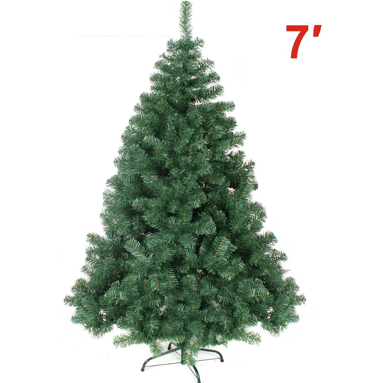 5b8f6e1a82d6 Amazon.com  Strong Camel 7-Feet Artificial Christmas Tree with Solid Metal  Stand  Home   Kitchen