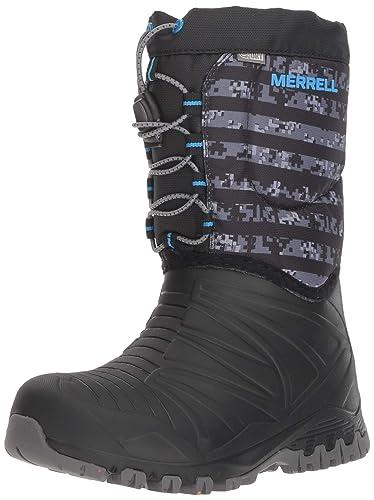 90417c54d2 Amazon.com | Merrell Snow Quest Lite Waterproof Boot Big Kid 3 Black ...