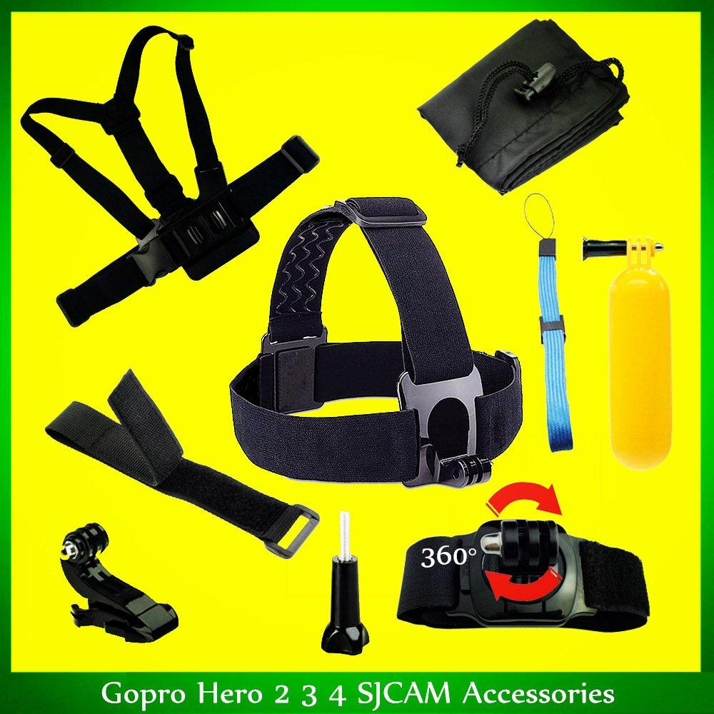 IDLB SJCAM 5000 SJ 4000 Gopro héroe Accesorios Set Arnés Casco ...