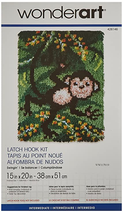 Wonderart Swingin Latch Hook Kit 15 X 20