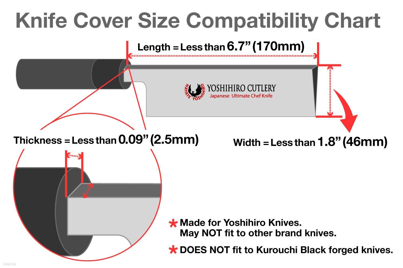 Yoshihiro Natural Magnolia Wood Saya Cover Blade Protector for Nakiri (165mm) 6.5in by Yoshihiro (Image #5)