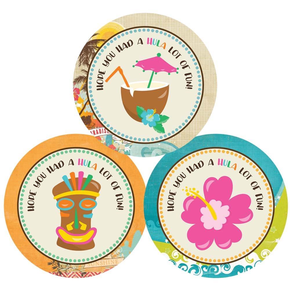 Summer Birthday Baby Shower Bridal Wedding Party Luau Thank You Sticker Labels Set of 30