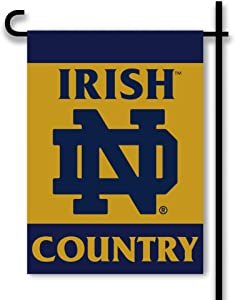 NCAA Notre Dame Fighting Irish 2-Sided Country Garden Flag, Team Color