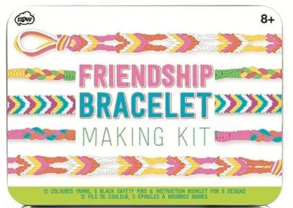 Amazon Npw Usa Diy Multicolored Friendship Bracelet Making Kit