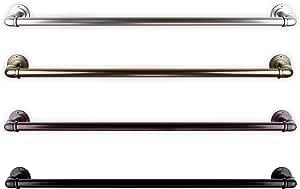Black 28-48 inch A/&F Rod D/écor Lumiere Double Curtain Rod 1 inch Diameter