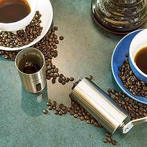 E-PRANCE 手挽きコーヒーミル ブラシ付き