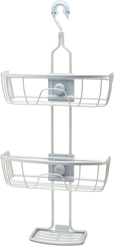 Zenna Home, Satin Chrome NeverRust Aluminum Adjustable Shower Caddy