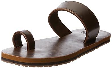 47f56edec Image Unavailable. Image not available for. Colour  Solethreads Men s  Nebula Brown Flip Flops Thong Sandals ...