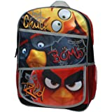 Angry Birds Flock of the Block Chuck, Bomb and Red Backpack with Side Mesh Po...