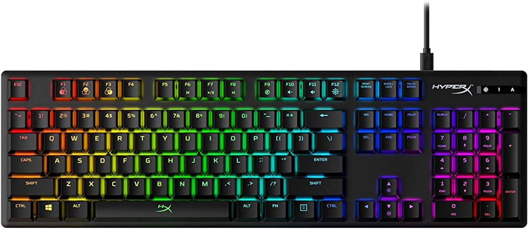 HyperX Alloy Origins - Teclado mecánico para Videojuegos, RGB, Teclas HyperX Aqua Mecánicas, Carcasa de Aluminio Duradera, Personalización Avanzada, ...
