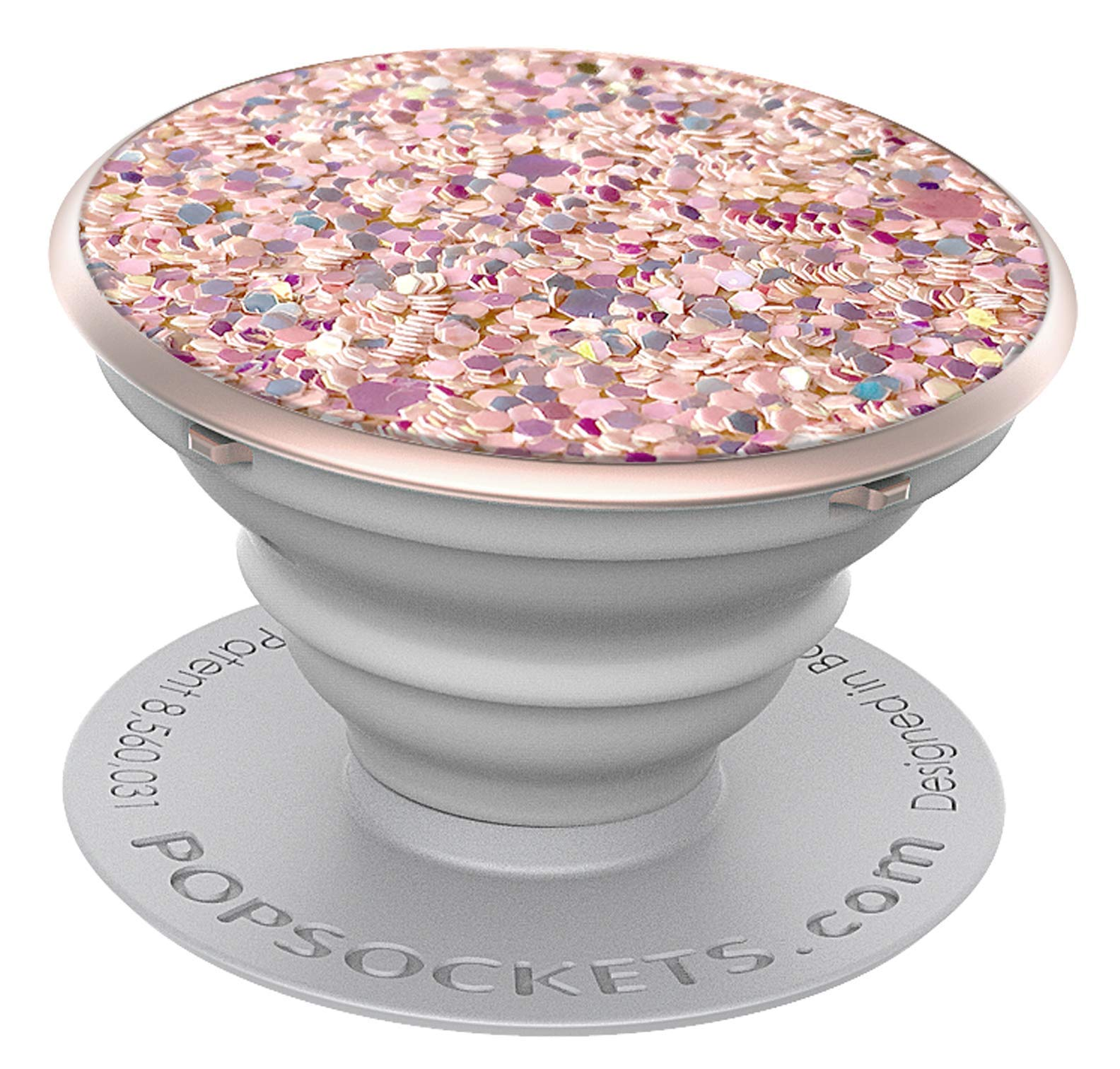 PopSockets: Collapsible Grip & Stand for Phones and Tablets - Sparkle Rose by PopSockets