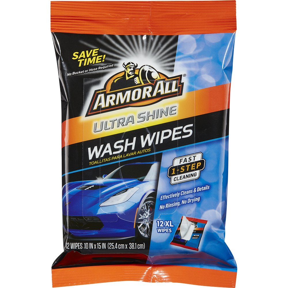 Armor All Ultra Shine Car Wash Wipes (12 count), 18240