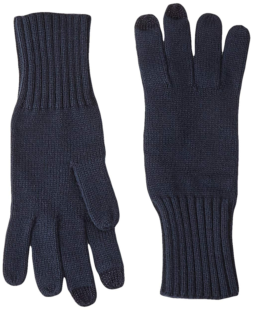 Tommy Hilfiger Soft Knit Gloves Guantes, Azul (Tommy Navy 413), única (Talla del Fabricante: OS) para Mujer