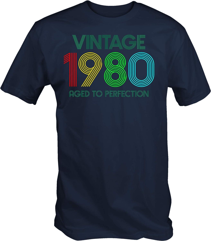 6TN Hombre Vintage 1980 Envejecido a la Camiseta de la perfecci/ón