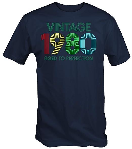 6TN Hombre Vintage 1980 Envejecido a la Camiseta de la perfección