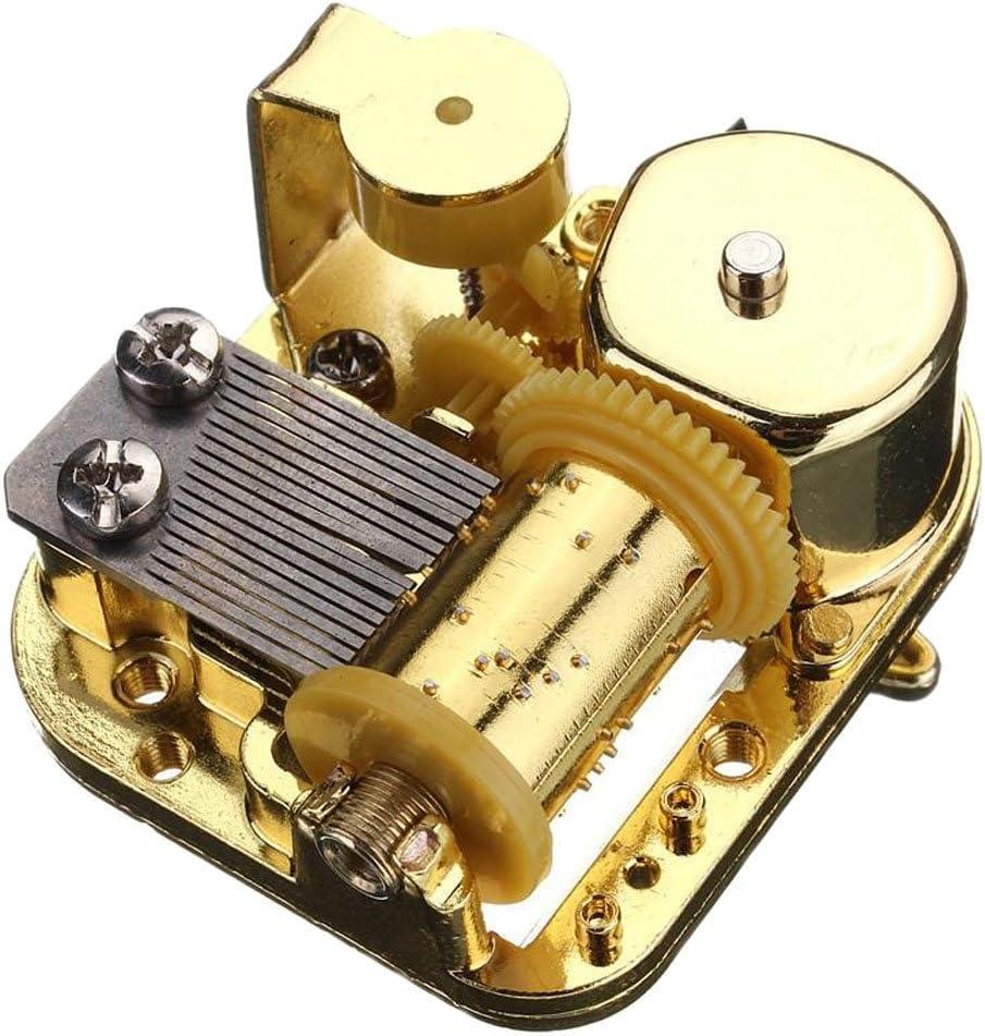 FnLy 18 Noten Musikwerk Uhrwerk f/ür DIY-Spieluhr Silent Night Spieluhr Golden-Clockwork