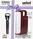 Sanford 2 In 1 Combo Emergency Lantern And Flash Light, Sf5830Sec Bs, Black