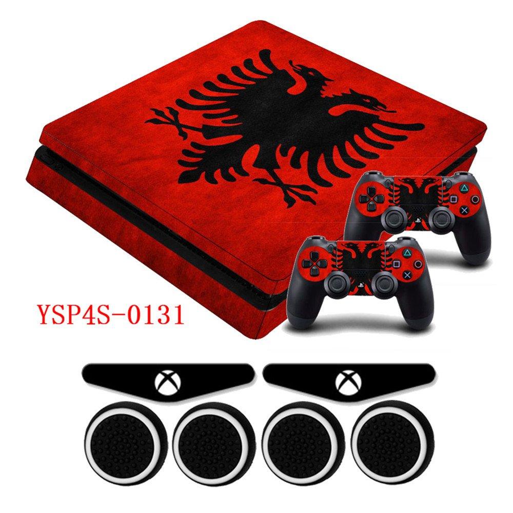 Galleon ps4 slim skin dualshock 4 controller albania national flag decal ps4 slim sticker vinyl skin 2x led light bar stickers ps4