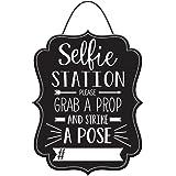 Stumps Graduation Photo Booth Hashtag Sign,Black/White