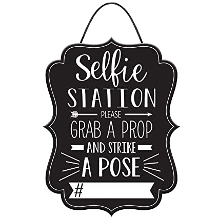 image relating to Selfie Station Sign Free Printable known as Amscan 241737 Commencement Picture Booth Indicator, 15\