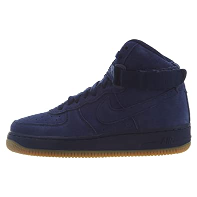 promo code 763d8 6a919 Amazon.com | Nike Air Force 1 Mid Suede Blue/Void Boys/Girls ...