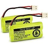 2 Pack Replacement Battery for AT/&T EL52213 Cordless Phone 800mAh, 2.4V, NI-MH