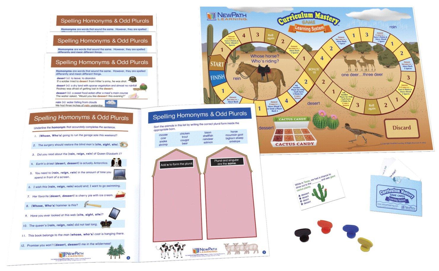 Spelling Common Homonyms Learning Center Game Grades 6-9