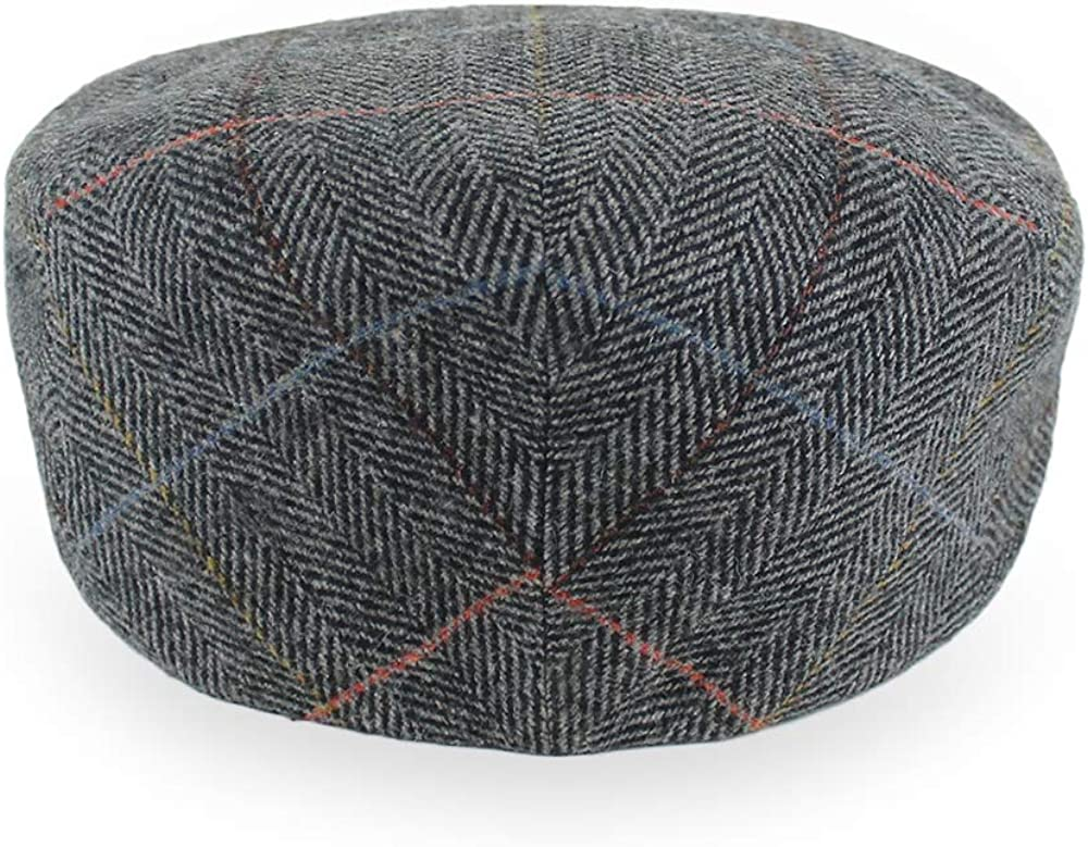 Belfry Wool Blend Tweed Flat Caps Mens Womens 5 Colors