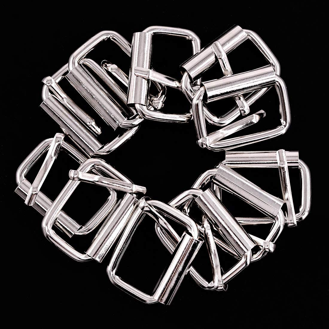 25mm Bronze Heavy Duty Metal Rectangle Ring Webbing Belts Buckle Metal Rings for for Belt Bags DIY Accessories Keychains Belts and Dog Leash Swpeet 60Pcs 1 Inch