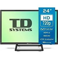 TD Systems K24DLX10H - Televisores 24 Pulgadas HD, HDMI, VGA USB Grabador Reproductor, DVB-T2/C/S2 Modo Hotel…