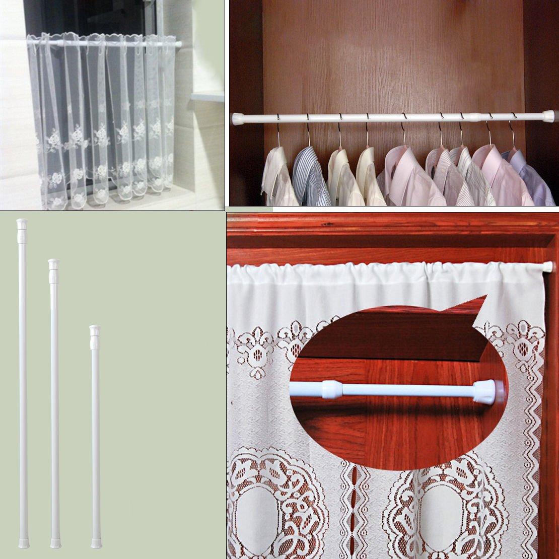 Hmmedsmoothly Rideau de penderie t/élescopique Blanc 60-110 cm
