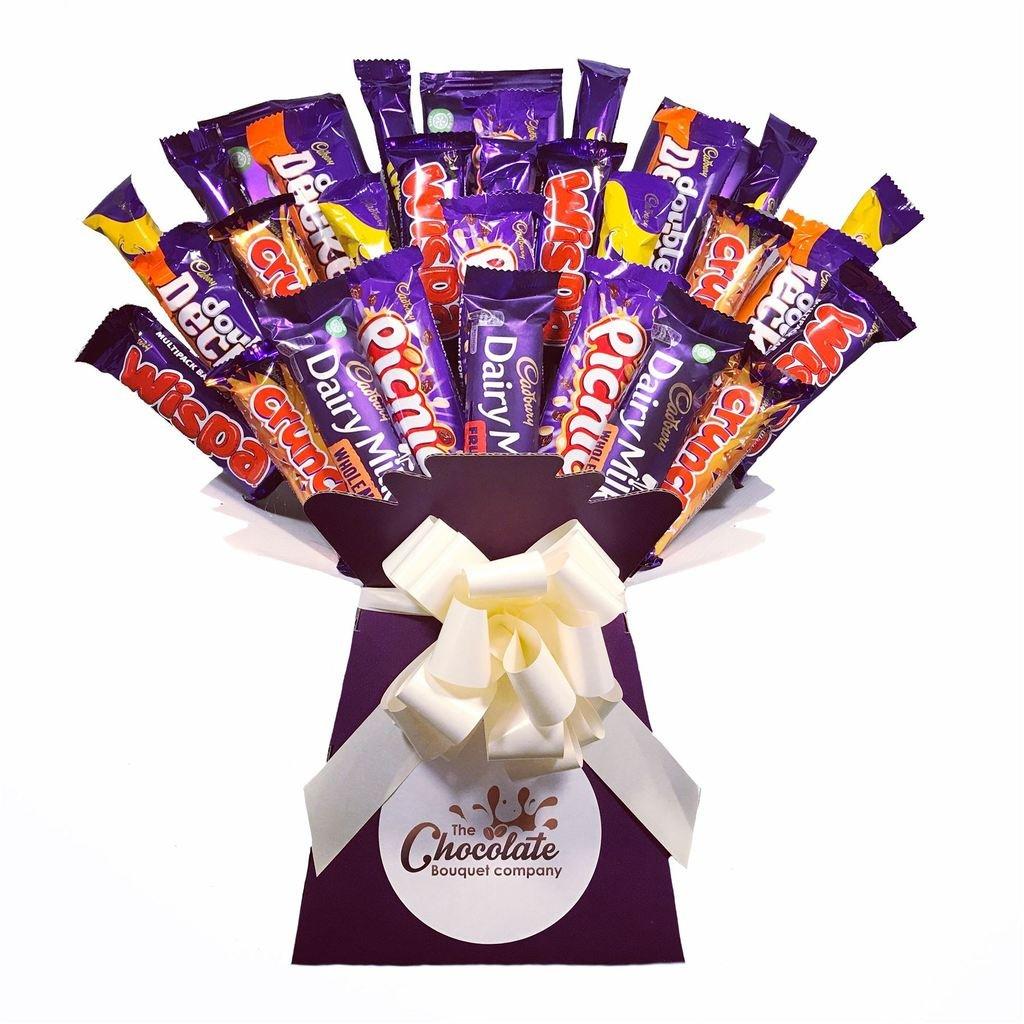 c8c6bc93589b Cadbury XL Whopper Chocolate Bouquet - Sweet Hamper Tree Explosion -  Perfect Gift  Amazon.co.uk  Grocery