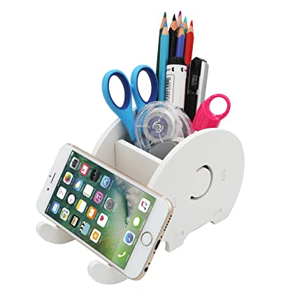 Desk Accessories & Organizer Office & School Supplies Cell Phone Stand Cute Elephant Phone Stand Tablet Desk Bracket With Pen Pencil Holder Compatible Smartphone Desk Decoration Mu Reputation First