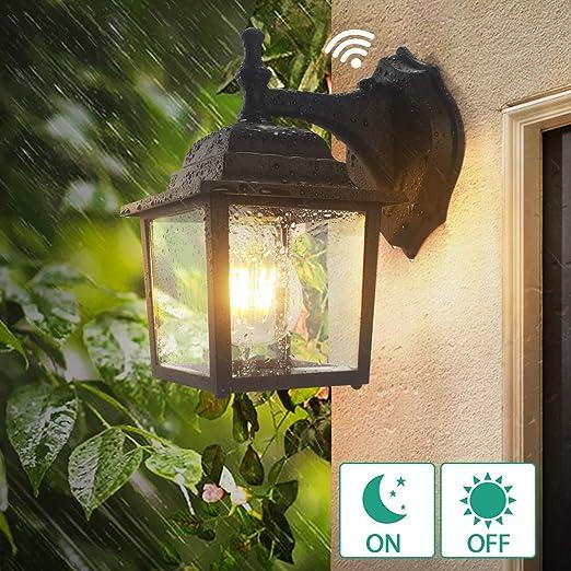 big sale 2faba 89ede Dusk to Dawn Sensor Outdoor Wall Lanterns, Lamomo Wall ...