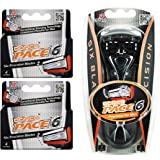 Dorco Pace 6- Six Blade Razor Blade System - Value Pack