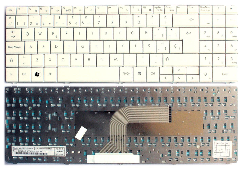 Teclado española para ordenador portátil Packard Bell EasyNote MT85 ST85 ST60 - Blanca: Amazon.es: Electrónica