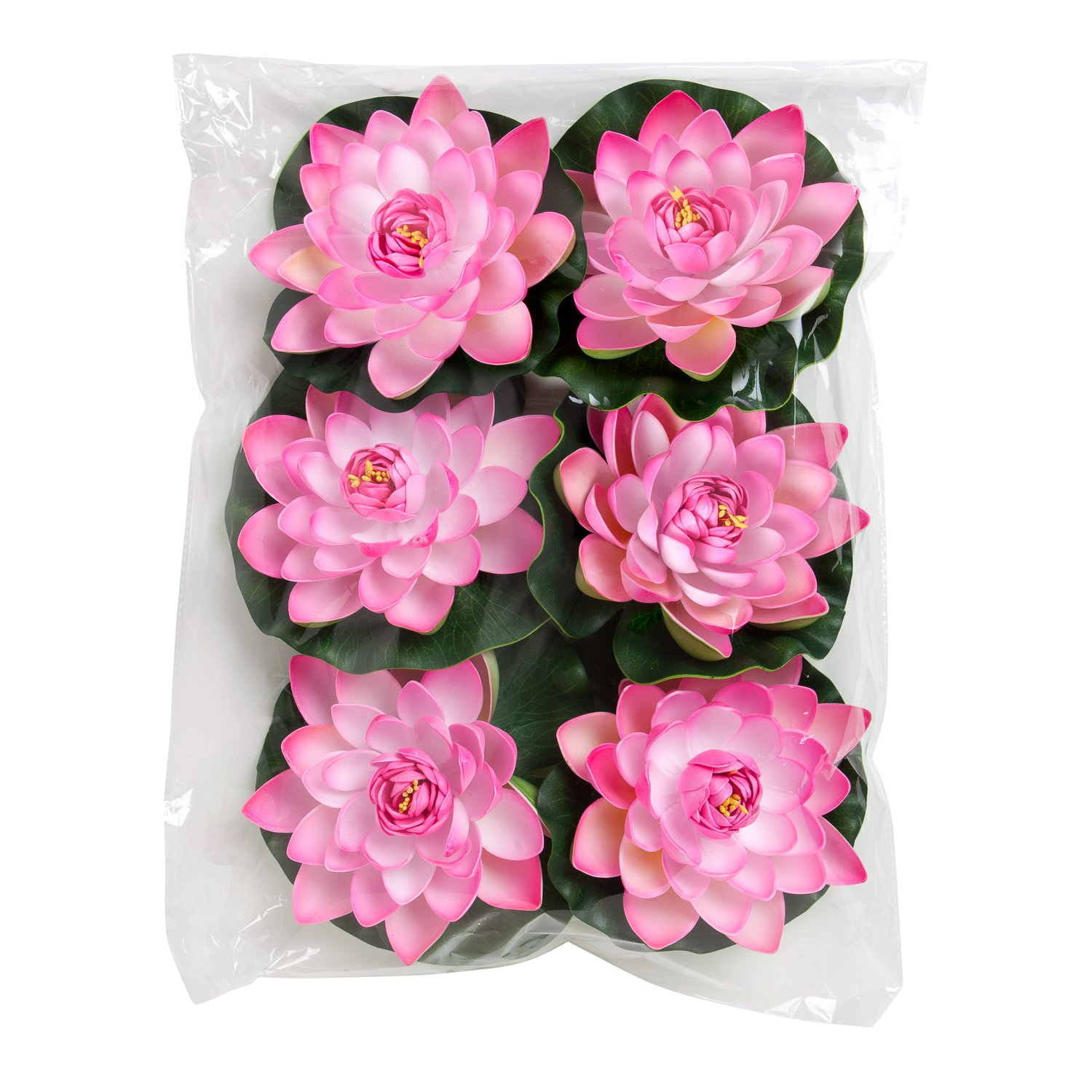 Amazon Best Floating Flowers Set Of 6 Pink Flowers For Weddings