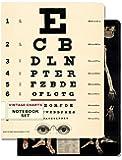 Cavallini Papers 96-page Juego de 4por 14cm Notebook, clásico gráficos, juego de 2