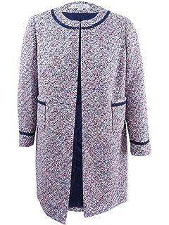 fdc22f9f604 Tahari by ASL Women s Plus Tweed Fray Trim Jacket White 24W at ...