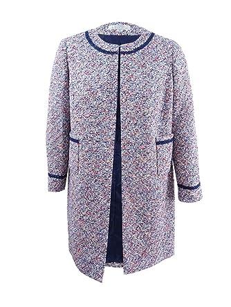 2ddfd340f3f Amazon.com  Tahari ASL Women s Plus Size Open Boucle Topper Jacket ...