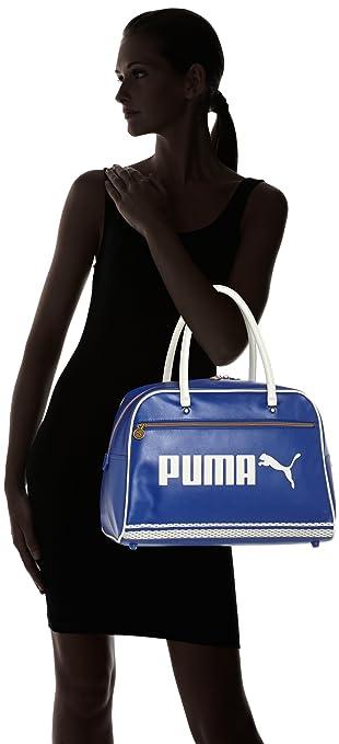 Puma Campus Grip Unisex Bag blue Mazarine Blue Silver Birch Size 44 x 31 x  20.5 cm  Amazon.co.uk  Sports   Outdoors 3d724f1f27