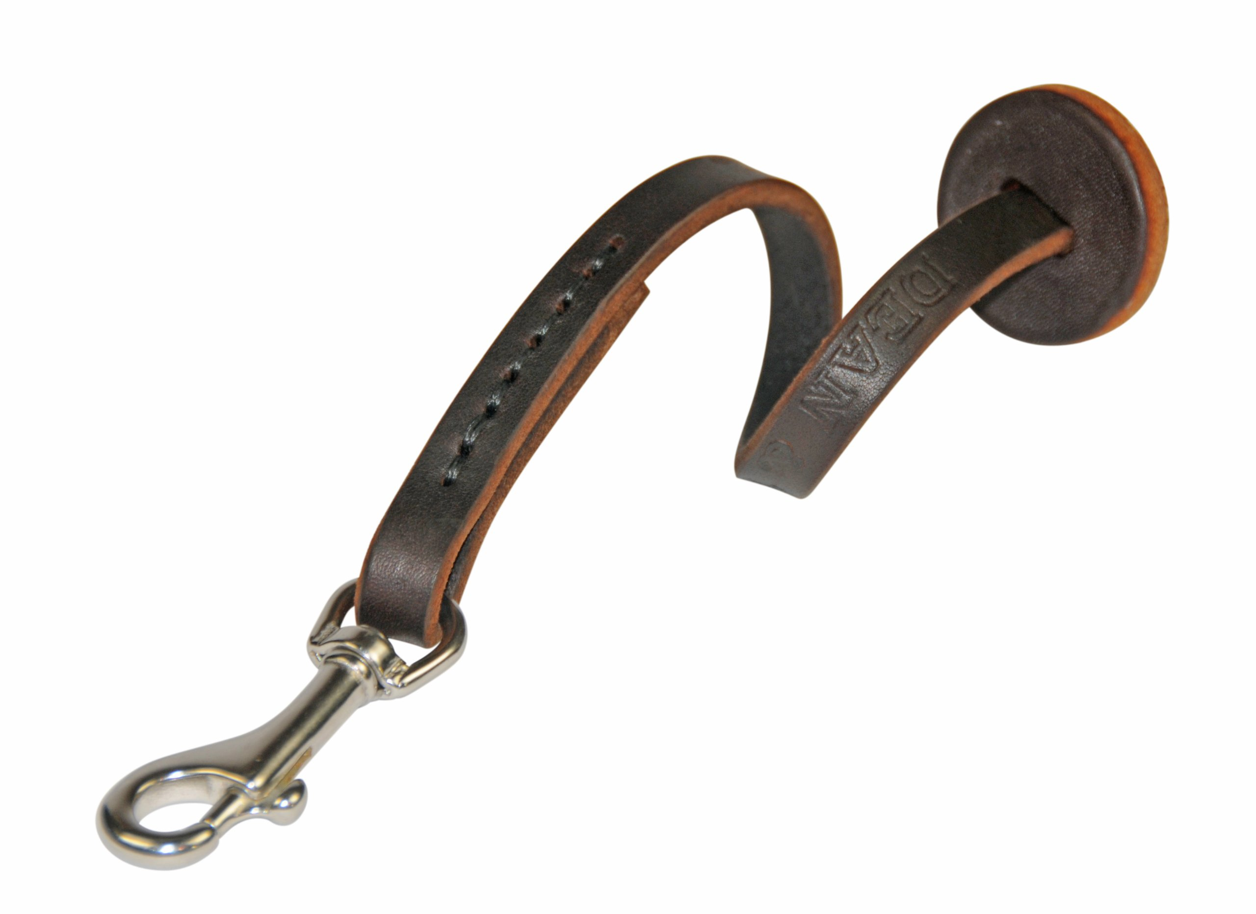 Dean and Tyler Hand Control Dog Leash, Brown 3-Feet with Stainless Steel Hardware